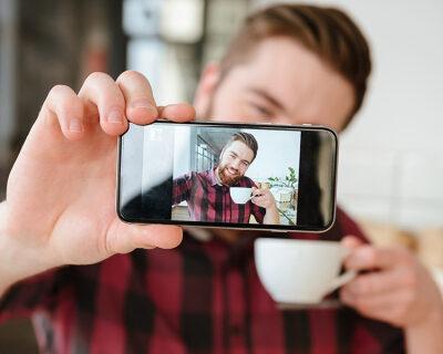 web3-man-selfie-smartphone-coffee-shutterstock